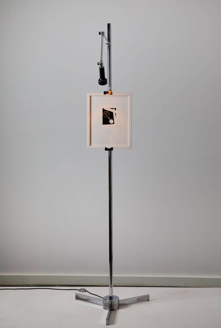 Easel Floor Lamp by Angelo Lelli for Arredoluce In Good Condition For Sale In Los Angeles, CA