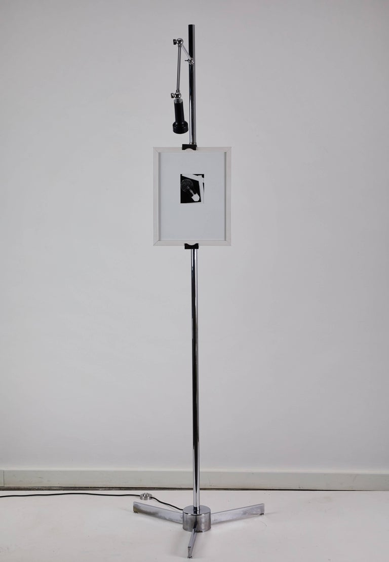 Mid-20th Century Easel Floor Lamp by Angelo Lelli for Arredoluce For Sale