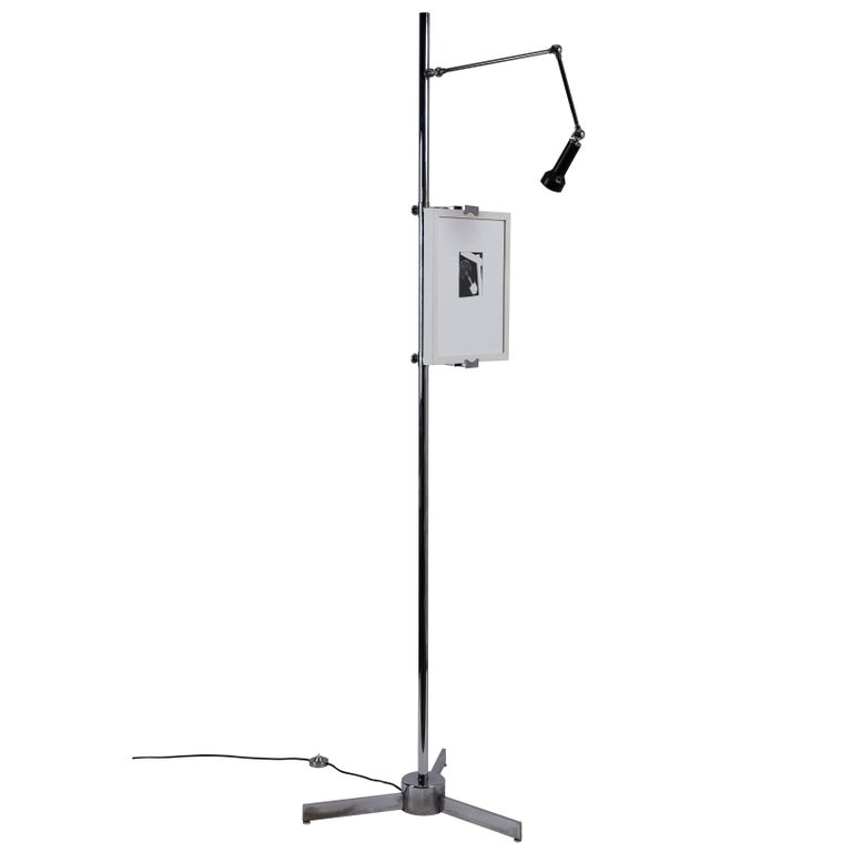 Easel Floor Lamp by Angelo Lelli for Arredoluce