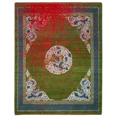East Collection Wool and Silk Hand Knotted Rugs, Dragon Tohuwabohu