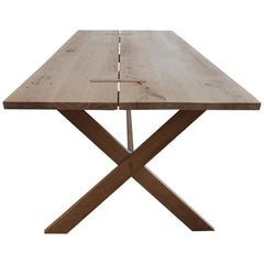 East End White Oak Trestle Table