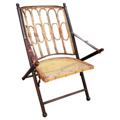East Indies British Colonial Campaign Folding Chair, 19th Century