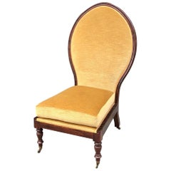 East Indies Regency Rosewood Raj Chair, 19th Century