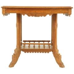 Antique Hall Table, East Lake Hall Table, Stick and Ball, Ash, USA, 1890, B1611