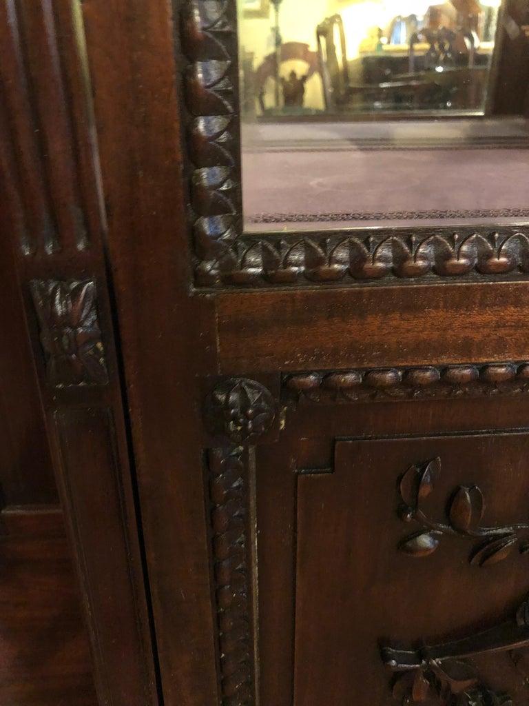 East Lake Victorian 19th Century Vitrine or Curio Cabinet / Bookcase 12