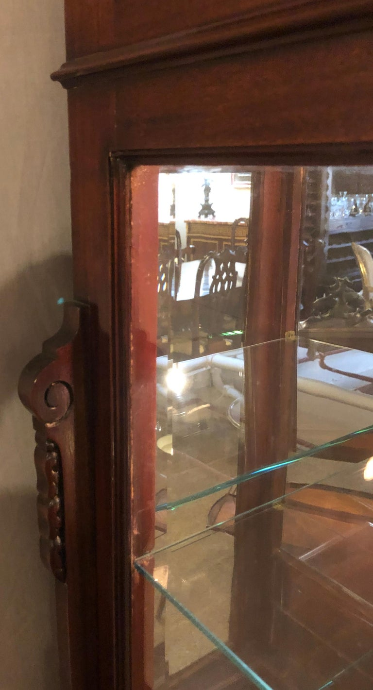 East Lake Victorian 19th Century Vitrine or Curio Cabinet / Bookcase 13