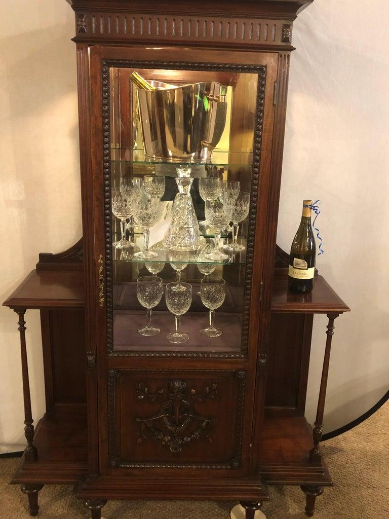 East Lake Victorian 19th Century Vitrine or Curio Cabinet / Bookcase 5