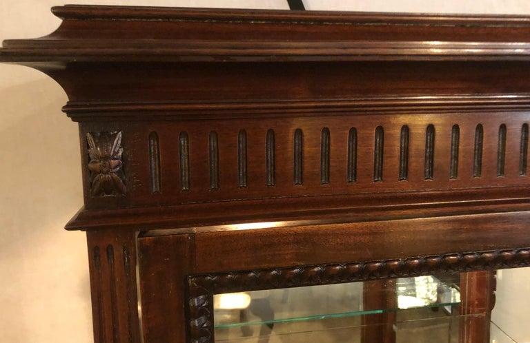 East Lake Victorian 19th Century Vitrine or Curio Cabinet / Bookcase 6