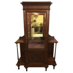East Lake Victorian 19th Century Vitrine or Curio Cabinet / Bookcase