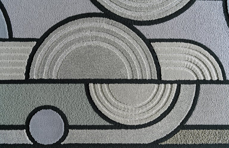East of the Sun Rug, Grey Rectangular Wool Geometric, Lara Bohinc for Kasthall In New Condition For Sale In London, GB