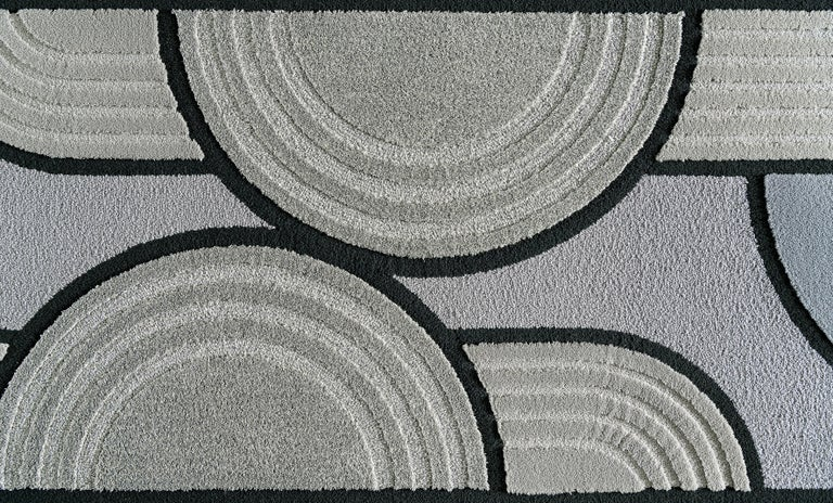 East of the Sun Rug, Grey Rectangular Wool Geometric, Lara Bohinc for Kasthall For Sale 1