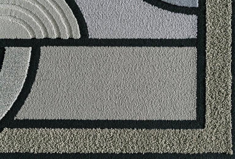 East of the Sun Rug, Grey Rectangular Wool Geometric, Lara Bohinc for Kasthall For Sale 3