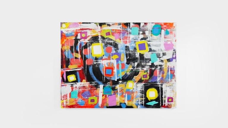 Medium: Acrylic on canvas. Subject matter: Abstract Size: 36