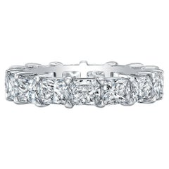 East-West Radiant Cut Diamonds Eternity Band