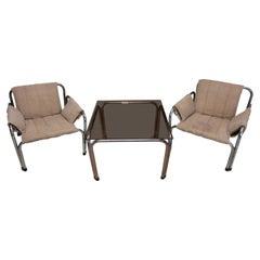 Eastern Bloc Lounge Seating Designed by Jaroslav Hrescak, Czechoslovakia, 1980s