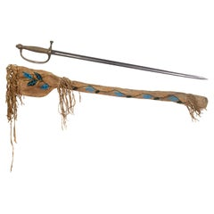 Eastern Native Sword and Beaded Case