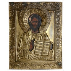 Eastern Orthodox Icon of Christ the Teacher, 19th Century