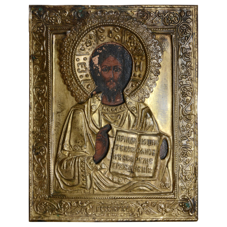 Eastern Orthodox Icon of Christ the Teacher, 19th Century