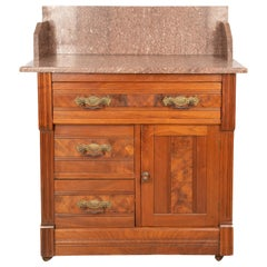 Eastlake Blush Marble-Top Wash Stand