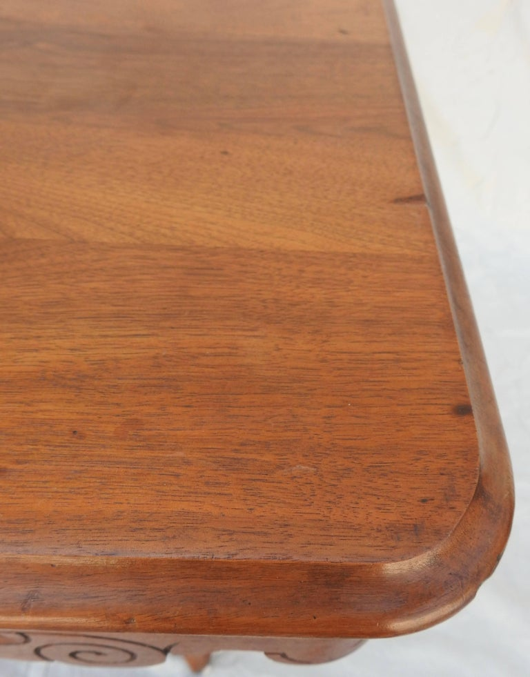 Eastlake Burled Walnut Table with Glass Top For Sale 10