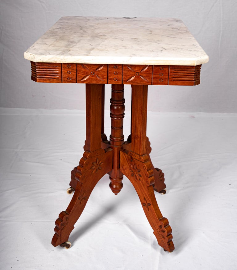 Eastlake Carrera Marble-Top Parlor Table For Sale 1