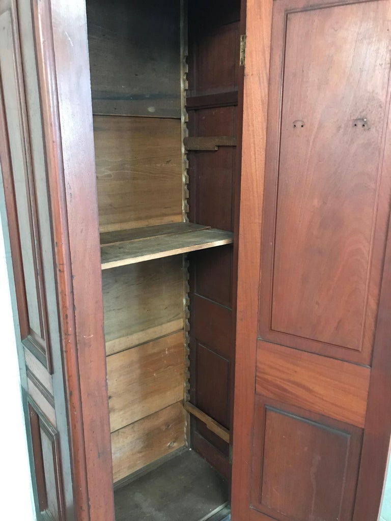 Eastlake Carved Mahogany Armoire Cabinet For Sale at 1stdibs