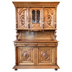 Eastlake Carved Oak Buffet