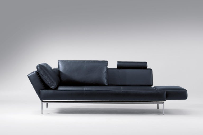 Modern Easy Adjustable Leather Sofa by FSM For Sale