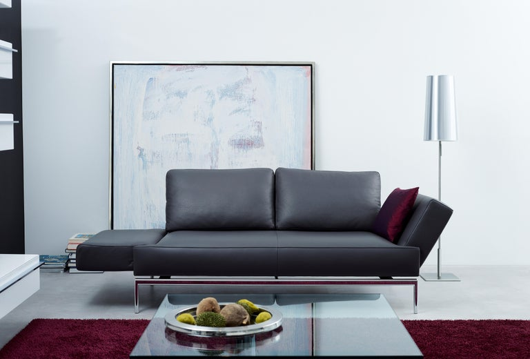 Easy Adjustable Leather Sofa by FSM In New Condition For Sale In New York, NY