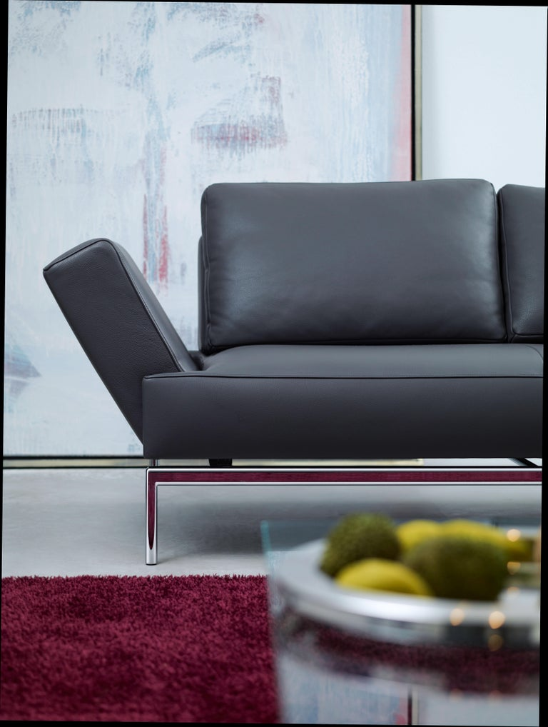 Easy Adjustable Leather Sofa by FSM For Sale 1