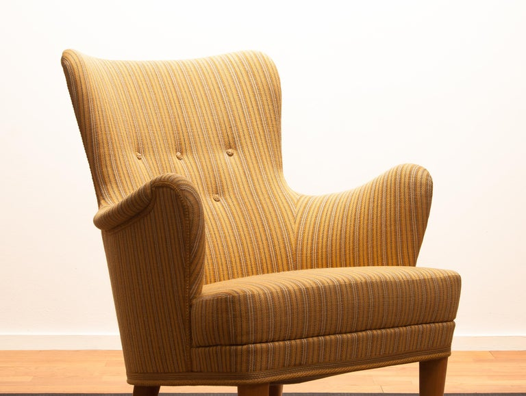 Mid-20th Century Easy Arm Lounge Chair