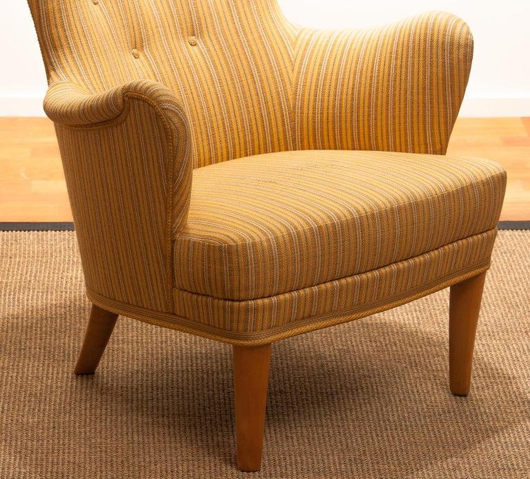 Wool Easy Arm Lounge Chair