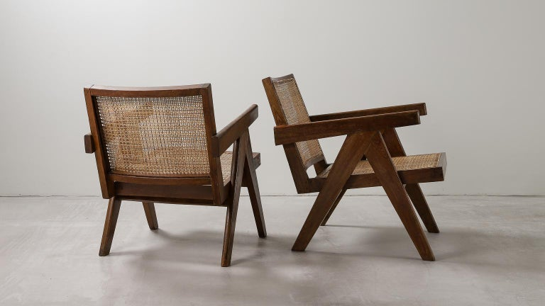 20th Century 'Easy' Armchairs by Pierre Jeanneret: PJ-SI-29-A Chandigarh, India, 1950s For Sale