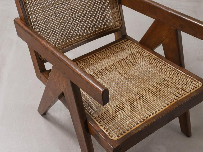 'Easy' Armchairs by Pierre Jeanneret: PJ-SI-29-A Chandigarh, India, 1950s For Sale 1