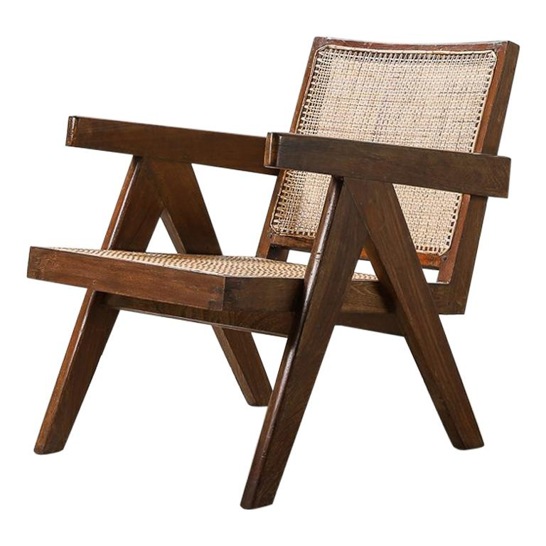 'Easy' Armchairs by Pierre Jeanneret: PJ-SI-29-A Chandigarh, India, 1950s For Sale