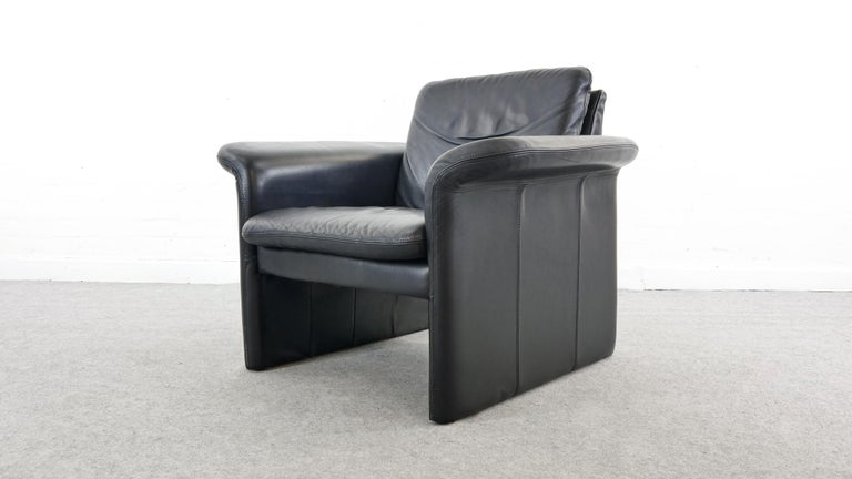 Scandinavian Modern Easy Chair / Armchair in Black Leather by Skalma Denmark For Sale