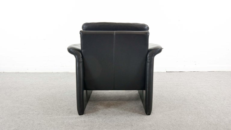 Easy Chair / Armchair in Black Leather by Skalma Denmark For Sale 1