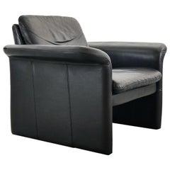 Easy Chair / Armchair in Black Leather by Skalma Denmark