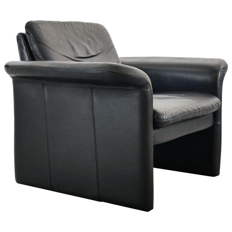 Easy Chair / Armchair in Black Leather by Skalma Denmark For Sale