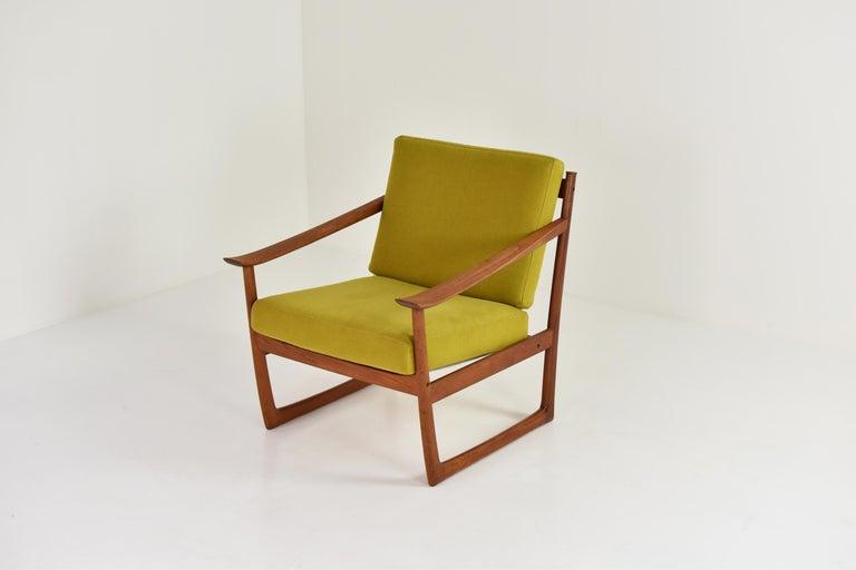 Danish Easy Chair by P. Hvidt and O. Molgaard-Nielsen for France & Søn, Denmark 1960's For Sale