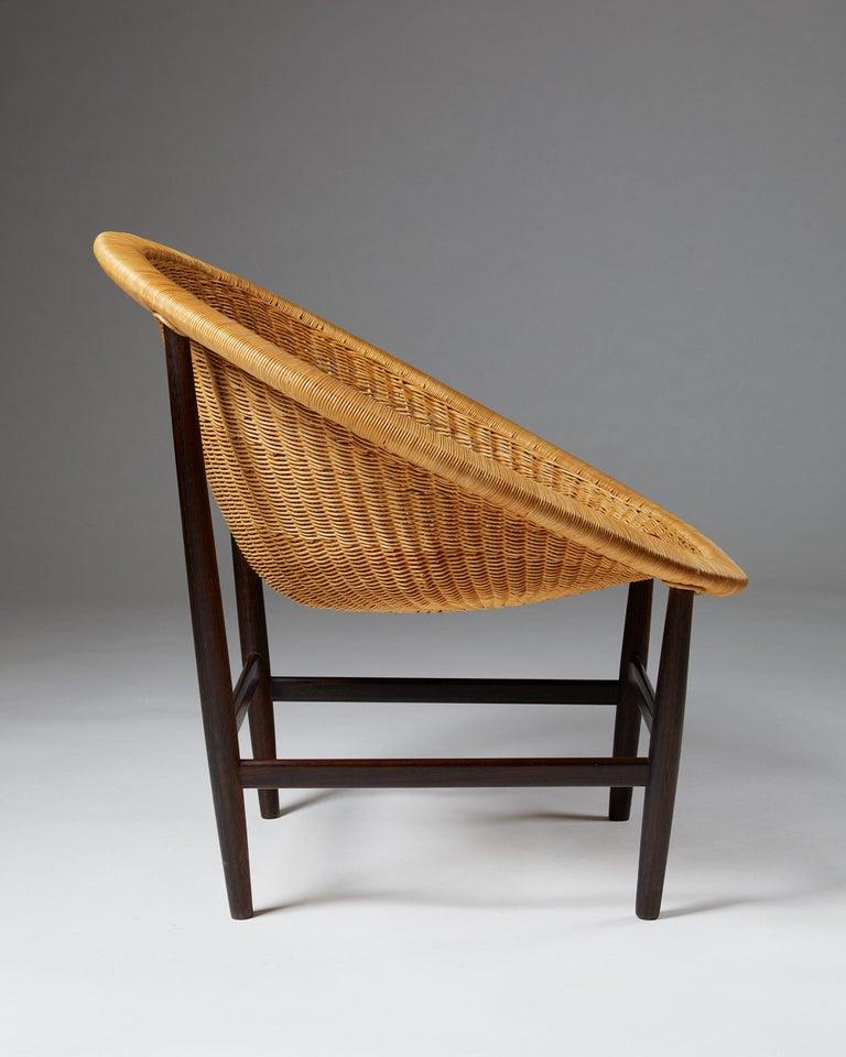 Mid-Century Modern Easy Chair Designed by Nanna Ditzel for Ludvig Pontoppidan, Denmark, 1950's For Sale