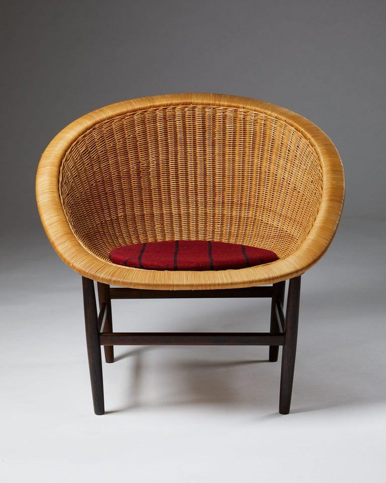 Danish Easy Chair Designed by Nanna Ditzel for Ludvig Pontoppidan, Denmark, 1950's For Sale