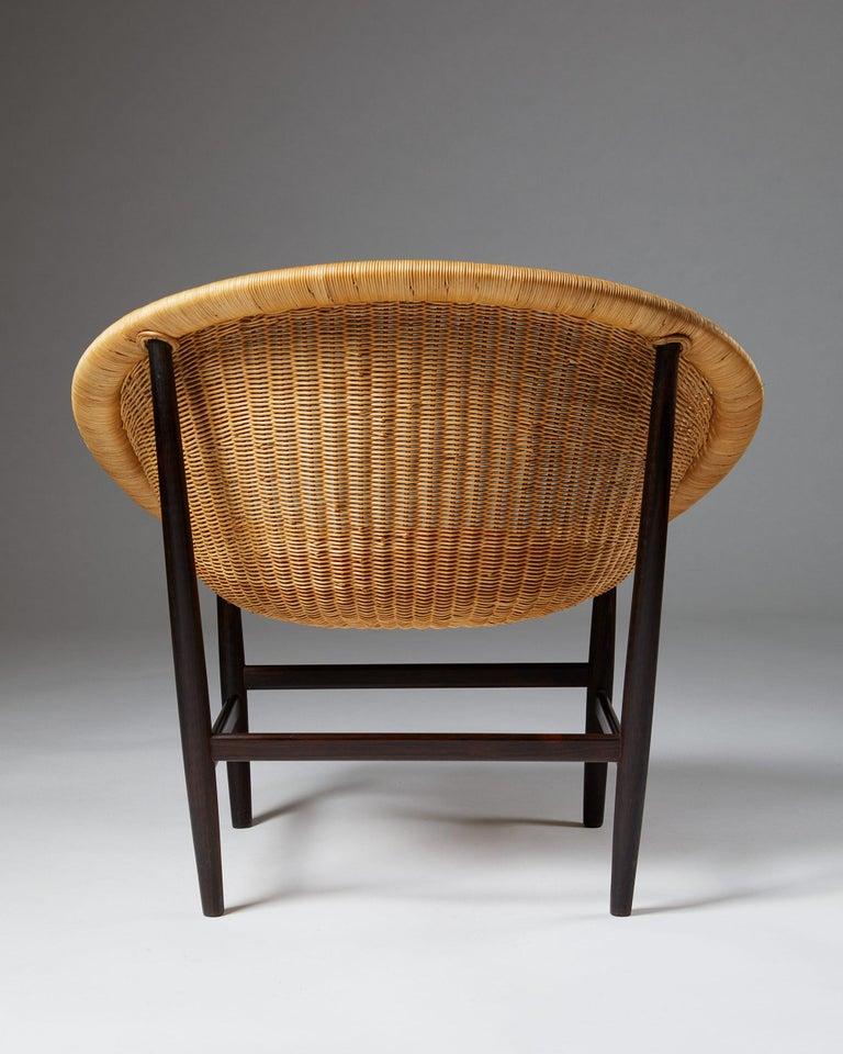 Mid-20th Century Easy Chair Designed by Nanna Ditzel for Ludvig Pontoppidan, Denmark, 1950's For Sale