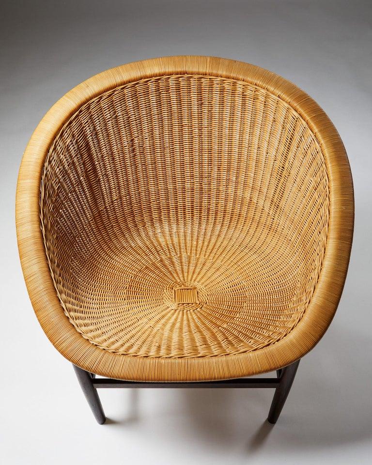 Easy Chair Designed by Nanna Ditzel for Ludvig Pontoppidan, Denmark, 1950's For Sale 1