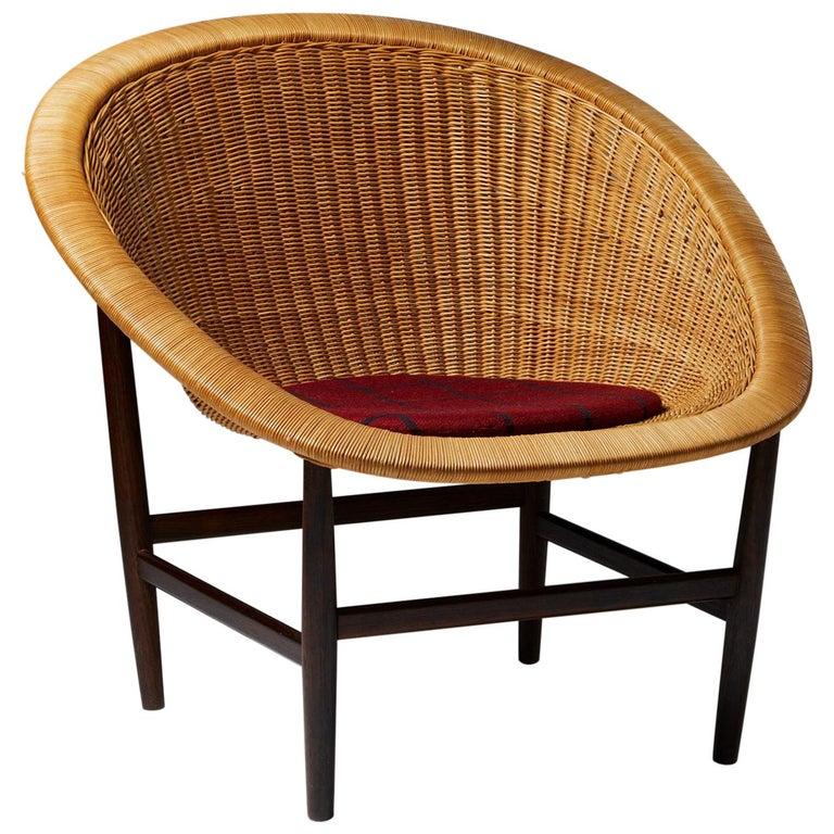 Easy Chair Designed by Nanna Ditzel for Ludvig Pontoppidan, Denmark, 1950's For Sale