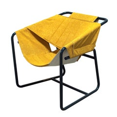 Easy Chair in Bent Metal Tubing with Fabric Sling