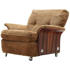 Easy Chair in Light Brown Corduroy