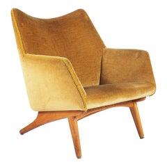Easy Chair in Oak and Fabric by Illum Wikkelsø, Denmark