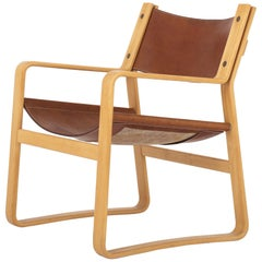 Easy Chair in Original Leather by Hans J. Wegner