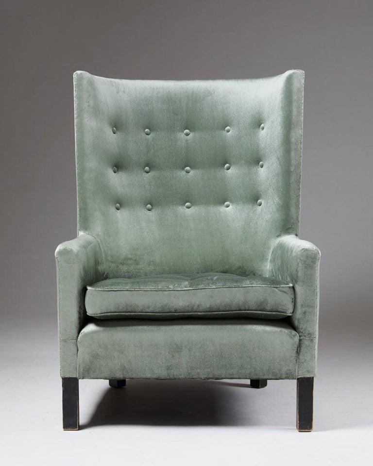 Mid-Century Modern Easy Chair Model 151 Designed by Björn Trägårdh for Svenskt Tenn, Sweden, 1930s For Sale